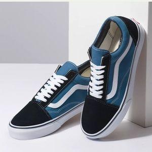 Vans Old Skool Navy Blue Low Sued Skate Sneaker 10